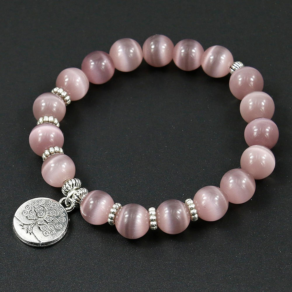 Natural Purple Opal Stones Bracelet CLOVER JEWELLERY
