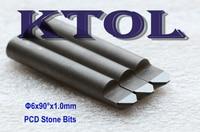 90 Degree 1.0MM PCD Diamond End Mills Bit CNC Engraving Tools,Durable CNC Diamond Tools Engraving Router Bits for Granite Stone