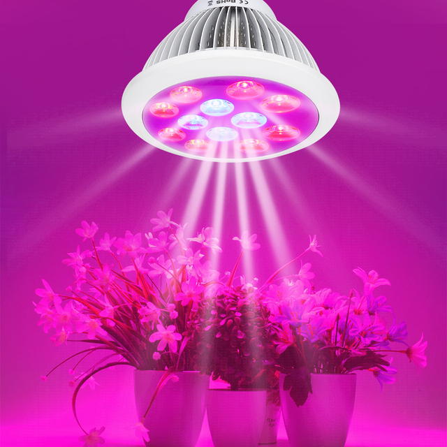 24w Led Grow Light E27 Ac 85 265v For Indoor Greenhouse Plants Flowers Vegetables Hydroponic System Aquarium Plant