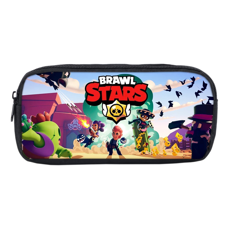 Hot Game Brawl Stars Bags Students Pencil Bag Casual Pencil Pouch For Boys Girls School Gifts Game Anime School Make Up Bags