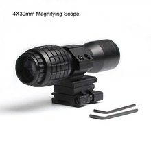 4X Magnifier Scope Sight Airsoft With Adjusted Mount Flip To Side FTS Monocular Fit For 551 552 For Hunting Shooting HT6-0060 недорого