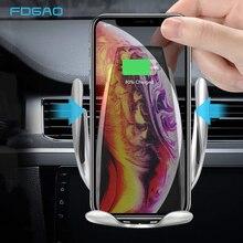10 W Автоматическая Беспроводной автомобиля Зарядное устройство Qi быстрой зарядки кронштейн для iPhone XS XR X 8 samsung S10 S9 S8 Air Vent держатель телефона