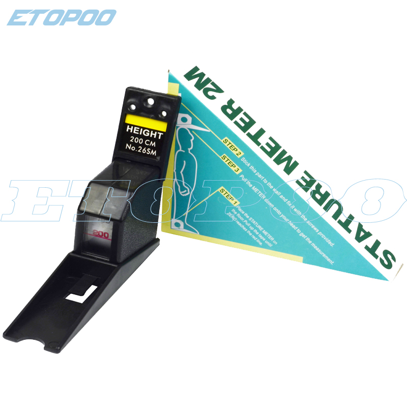 Online 200cm Black Color Wall Mounted Height Rod Meter Stadiometers Growth Ruler Chart Estadimetro Aliexpress