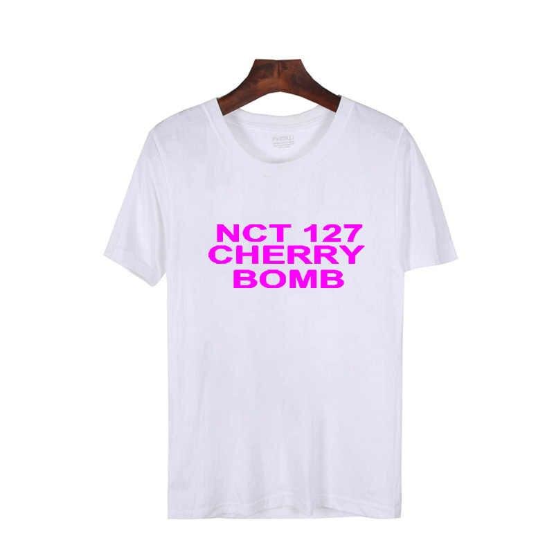 cd5faf2d7 ... Pkorli Kpop Nct 127 Cherry Bomb T-Shirt Men Women Cotton Short Sleeve  Unisex Crewneck ...