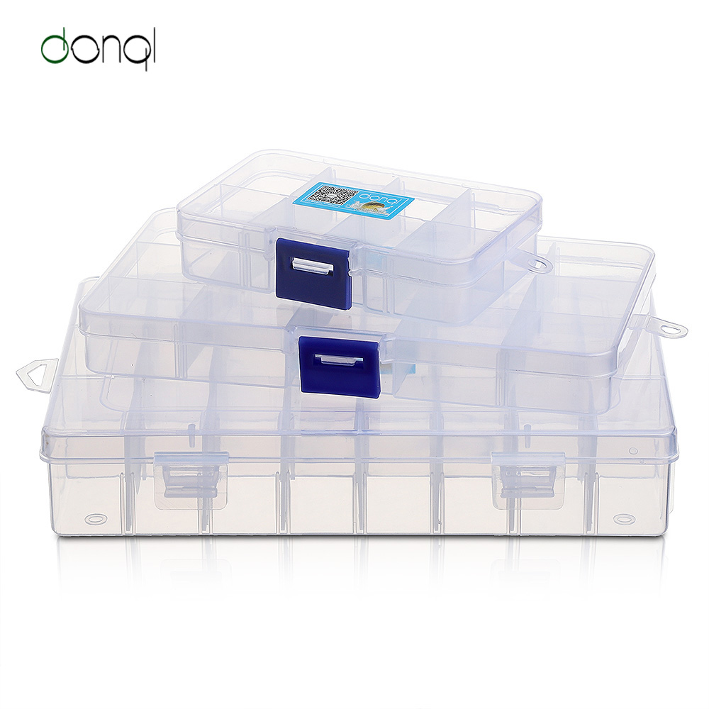DONQL Fishing Tackle Box Compartments Storage Case For Carp Fishing Accessories Fishing Tools Box Plastic For Fishing Lure Hook