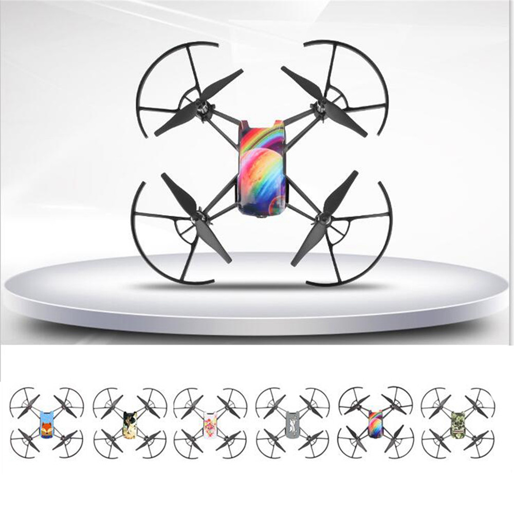 3pc/set Cool Waterproof PVC Stickers Body Decals For DJI TELLO Drone Protective Skin Cover Sticker Accessories