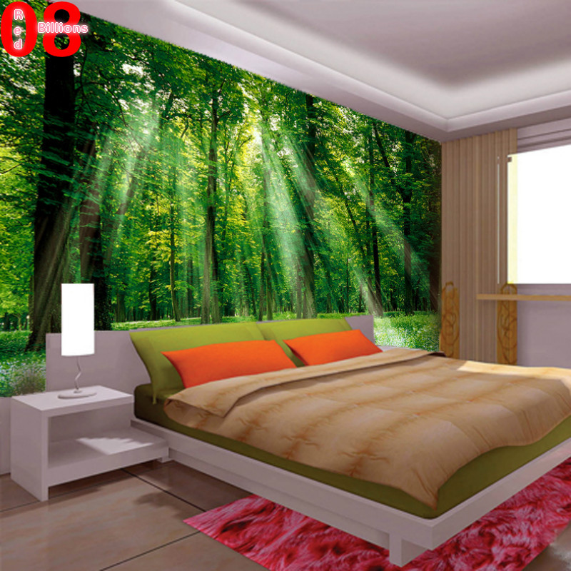 Charmant Mural Living Room Wallpaper Tv Sofa Wall Decoration Painting Scenery 3d  Wall Mural Green In Wallpapers From Home Improvement On Aliexpress.com |  Alibaba ...