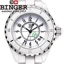 ТОП люксовый бренд Biner Леди смотреть керамические зеленая трава часы женщины платье twatch Высокое качество Японской movt кварцевые наручные часы