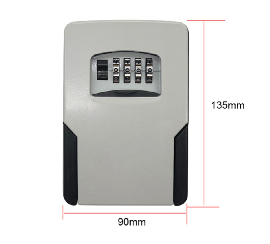 Key Safe Box Password Lock Key Safes Big Space For Outdoor Company Office Home Wall-mounted Storage Box