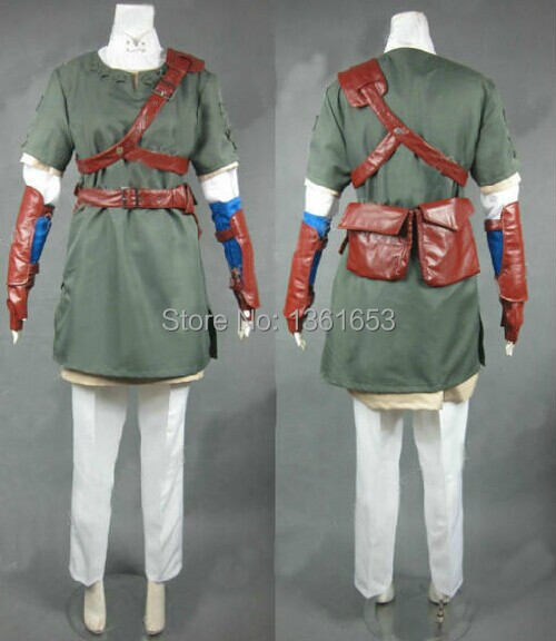 Customized Legend of Zelda Man size COS zelda costumes Halloween party coaplay role playing game playing