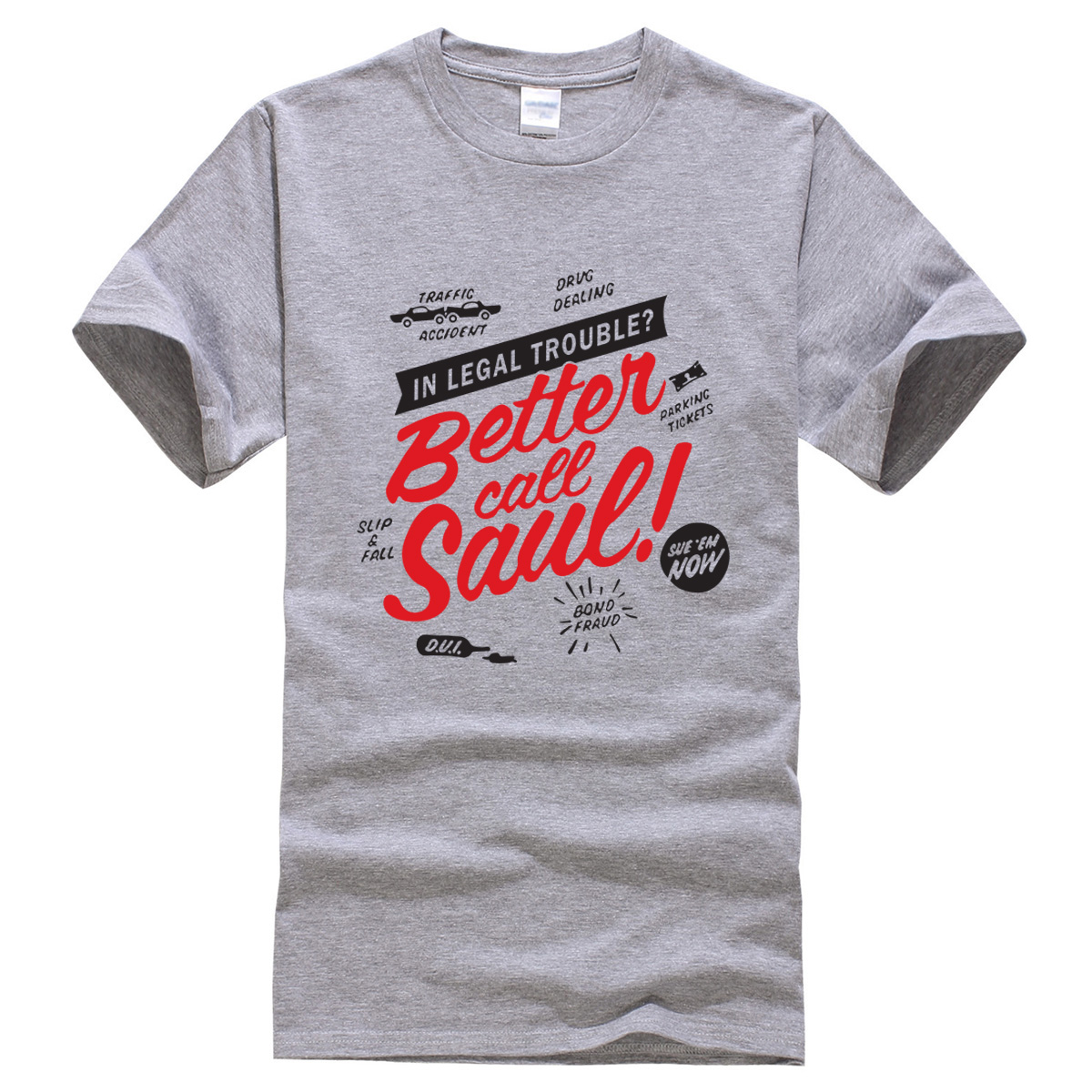 Better Call Saul 2018 letter printed summer T shirt Breaking Bad fashion funny t shirts brand