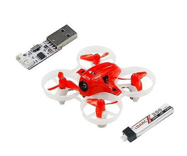 جاهزة في الأسهم KINGKONG/LDARC صغيرة 6X65 ملليمتر مايكرو FPV سباق Drone البسيطة RC Quadcopter W/ 716 نحى المحركات VS صغيرة 6 7-في قطع غيار وملحقات من الألعاب والهوايات على  مجموعة 3