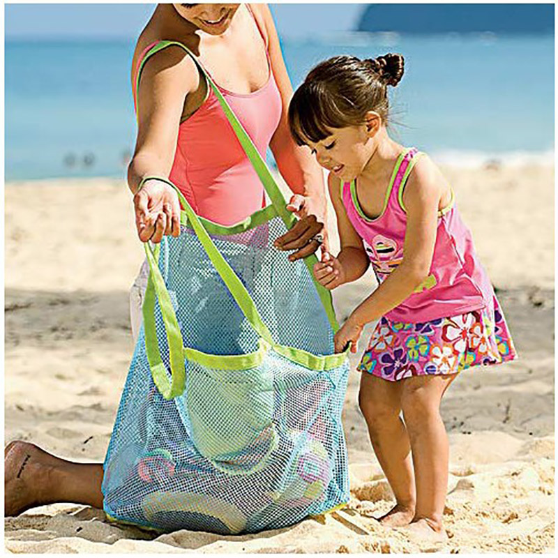 Baby Bath Toys Storage Mesh Bag Beach Mesh Net Bag Besket Water Bathroom Toys Storage Bag For Kids Outdoor Hanging Mesh Bag