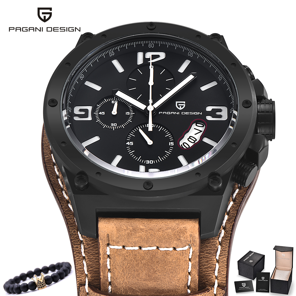 PAGANI hommes montres militaire armée marque de luxe sport décontracté étanche homme montre Quartz acier inoxydable homme montre-bracelet XFCS