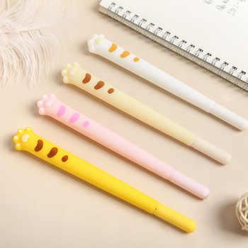 4 pièces mignon chat patte gel stylo ensemble 0.5mm stylo à bille couleur noire encre stylos écriture kitties griffe papeterie bureau fournitures scolaires A6621