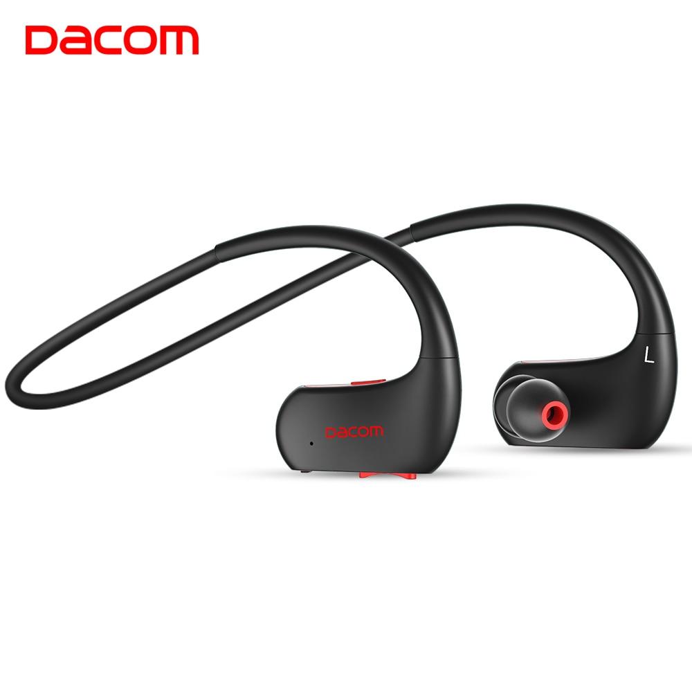 DACOM L05 IPX7 Étanche Sans Fil Bluetooth Écouteurs Sport Casque Stéréo Basse Casque Main Libre Écouteur pour iPhone Téléphones