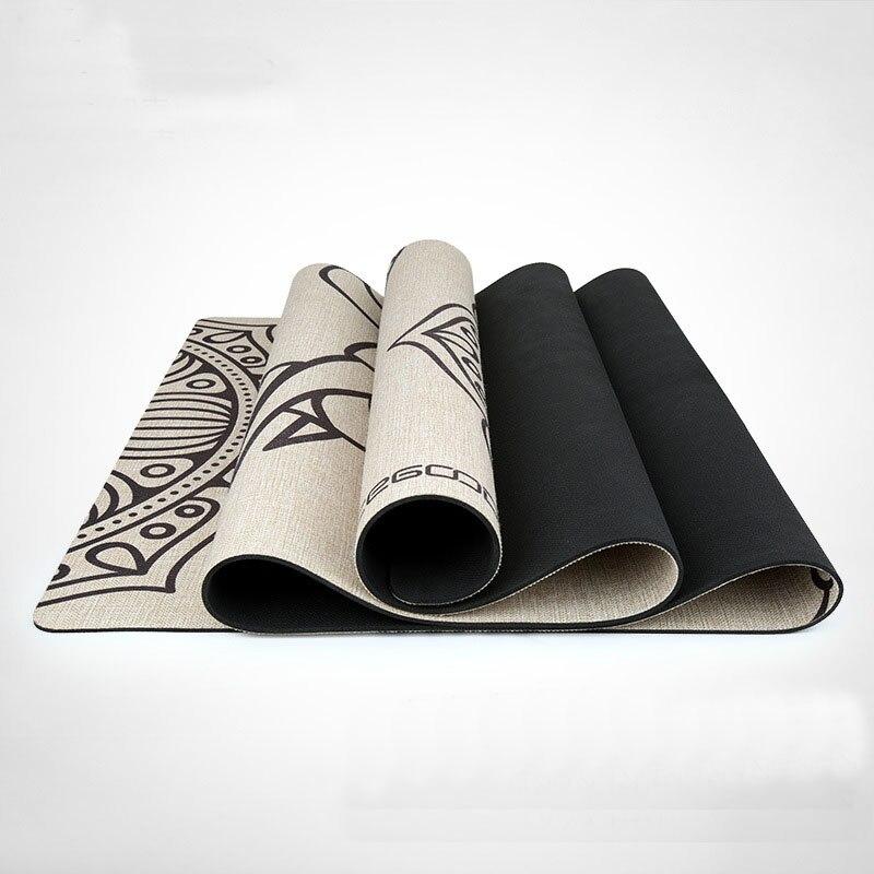 Caoutchouc naturel Imprimé Yoga Pad Prana Bikram Non-slip Tapis Incroyablement Confortable Yoga Tapis Magnifique Microfibre Imprimé Tapis
