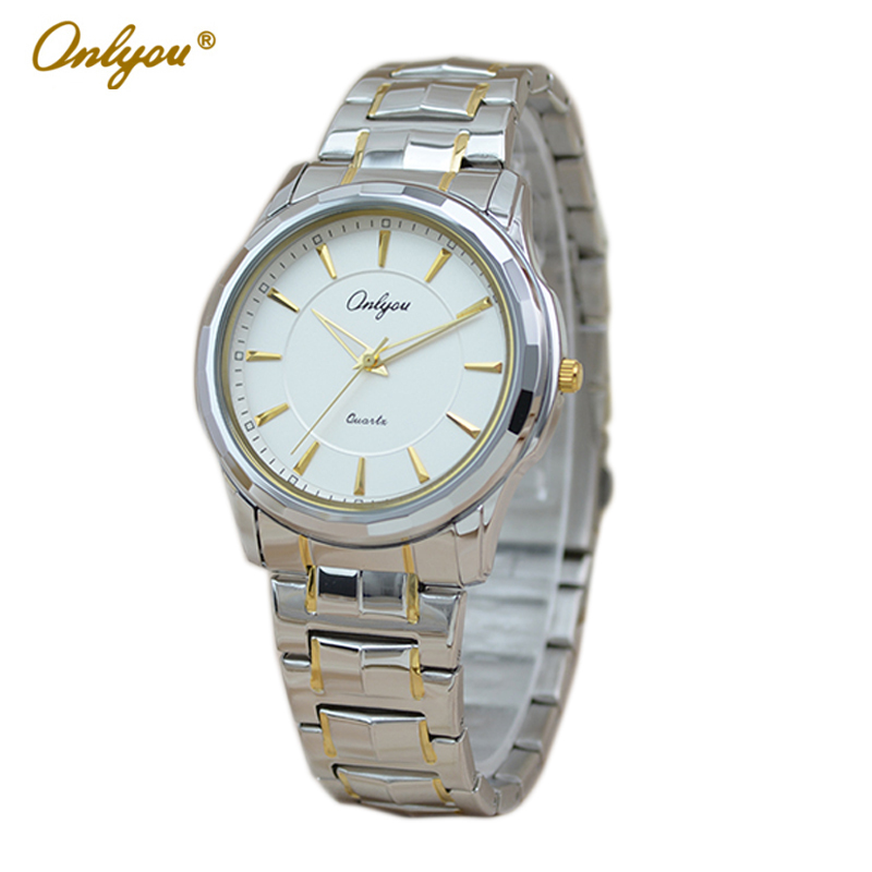Onlyou Brand Luxury Fashion Watches Women Men Quartz Watch High Quality Stainless Steel Wristwatches Ladies Dress Watch 8892  2016 new high quality women dress watch crrju luxury brand stainless steel watches fashion wrist gift watch men wristwatches