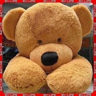 "6 FEET TEDDY BEAR STUFFED LIGHT BROWN GIANT JUMBO 71"""