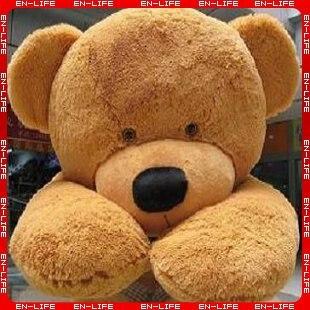 6 feet teddy bear stuffed light brown giant jumbo 71 in stuffed