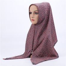 Moslim Dame Gewoon Pure Kleur Bubble Chiffon Hijab Sjaal Lange Grote Sjaal Head Cover Wraps Mode Alle Match Hijaabs Sjaals poncho(China)
