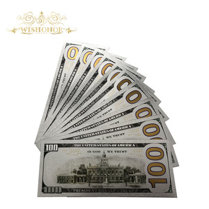 10 шт./лот, лидер продаж, серебряная банкнота США «Трамп», 100 долларов, банкноты в 24 к позолоченном посеребренном бумаге, деньги для подарков|Золотые банкноты|   | АлиЭкспресс