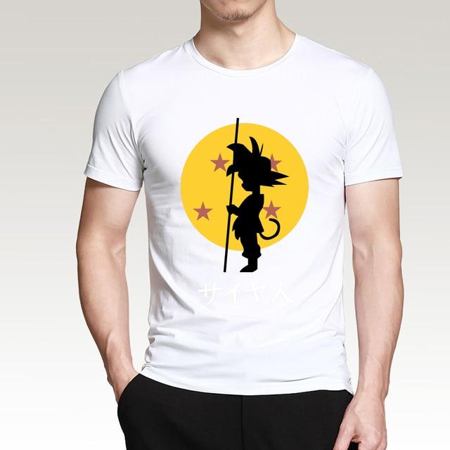 Anime Dragon Ball Z Goku Cartoon Men T Shirts