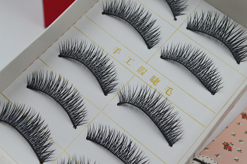5 pair/set natural long f false Eyelash lot black Cross Fake Eyelash Soft long Make up Eye lash Extensione E26