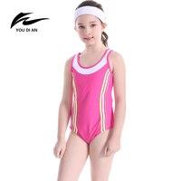 Swimwear Girls Children One Piece Sport Bathing Suit Halter Cross Swimsuit Kids Summer New Arrival Hot