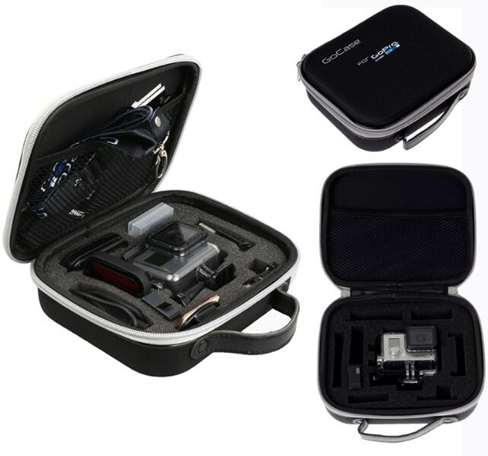 Gopro camera bag carrying box storage case for GoPro Hero 2/3/3+/4 camera spare parts accessories 19cm*16cm*6cm bubm shockproof carrying camera case for gopro hero professional protector bag travel packsack for pioneer pro ddj sz dj