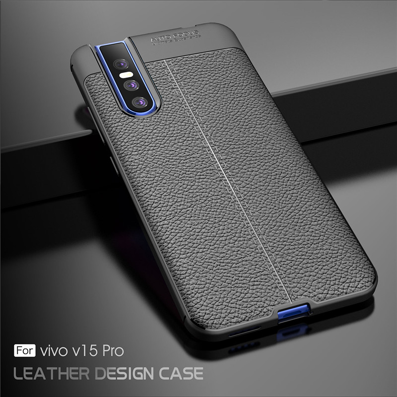 Cover For Vivo V15 Pro Case Luxury Rubber Soft Silicone Phone Back PU Fundas ~