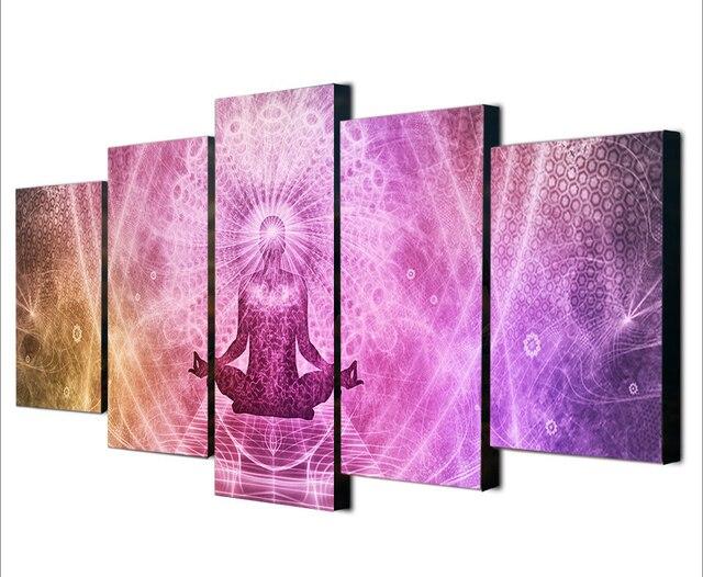 5 Pcs/Set Framed HD Printed Meditation Zen Buddhism Wall Art Canvas ...