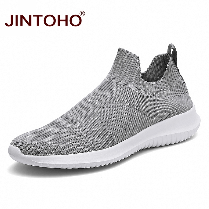 JINTOHO Men Sneakers Loafers-Shoes Laces Slip-On Fashion Cheap Summer Without Breathable