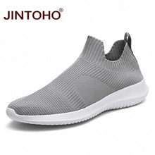 JINTOHO Summer Fashion Men Sneakers Breathable Men Fashion Shoes Slip On Sneakers For Men Cheap Men Loafers Shoes Without Laces(China)