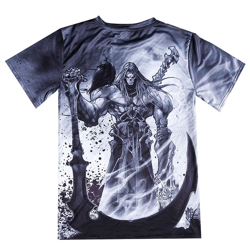 Summer favorite short   T   Men 3D   shirt   grim Reaper   T     shirt   Top Male Tee Summer drop shipping Fierce Skull   T  -  shirt