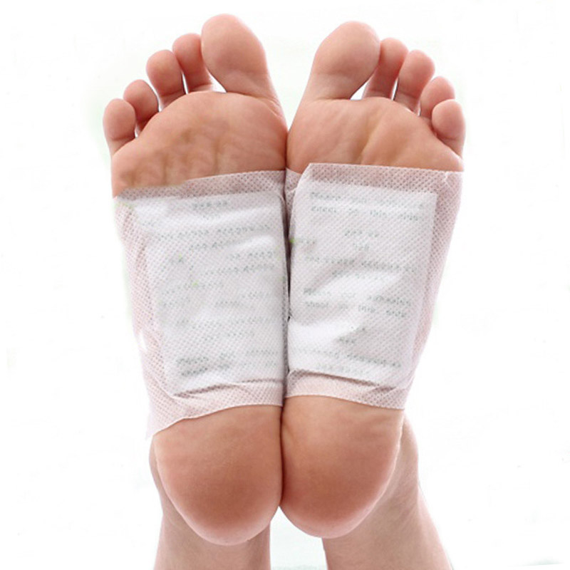 Cleansing Detox Foot Pads Dispel Toxiner Slap af muskler Kinoki Patches / No Retail Box (200pcs / lot = 100st Patches + 100st Lim)