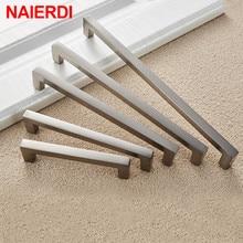 NAIERDI Aluminum Alloy Kitchen Door Handles Cabinet Handles Drawer Knobs Wardrobe Door Handles Brushed Modern Style Hardware
