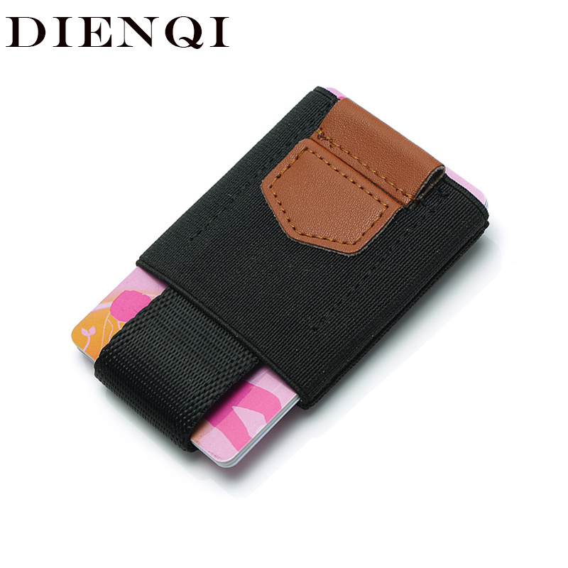 DIENIQI Genuine Leather Slim Wallet Men Mini Card Holder Money Bag Small Thin Purse Male Magic Wallet Black Vallet Walet 2019
