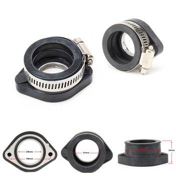 цена на Motorcycle Carburetor Adapter Inlet Intake Pipe Rubber Mat For VM24 PE PWK 28mm Carburetor Fit 110 125 140 150 160 cc Engine