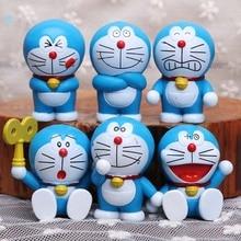 6 pcs 1 set Doraemon action figures toys