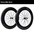 Продажа с фабрики 88 мм углеродная колесная дорога велосипед  колеса  клинчер колеса велосипеда