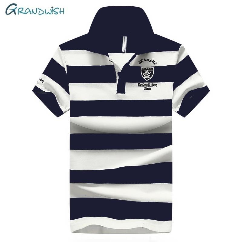 Grandwish Men's   Polo   Shirt Short Sleeve Men 95% Cotton Solid Casual   Polo   Shirts Men Brand   Polo   Male Clothing Plus Size 4XL,GA184