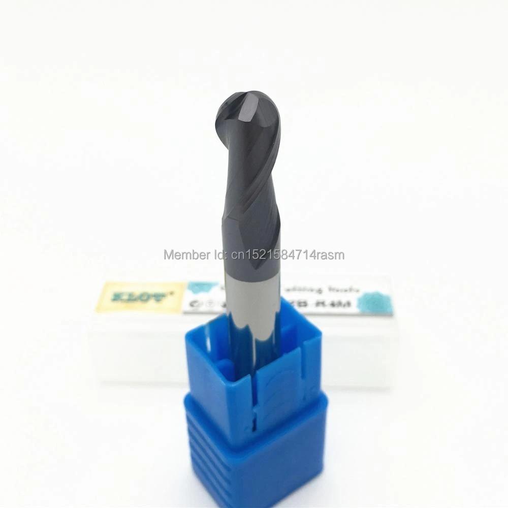 KLOT HRC50 ALTiN Coated Black Oxide Solid Carbide End Mill 6.5mm-9mm 4-Flute CNC