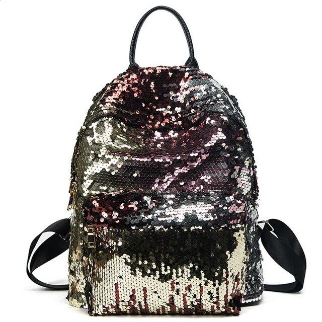 SFG HOUSE Fashion Girls Sequins Backpack 2017 Women Travel ...