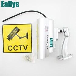 Водонепроницаемый пустышки CCTV Камера с мигающий светодиод для наружного или внутреннего реалистичной Поддельные Камера для безопасности