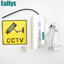 Waterproof Dummy CCTV Camera With Flashing LED Light For Outdoor or Indoor Realistic Looking fake Camera for Security(China)