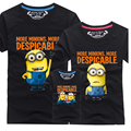 2016 New Family Look T Shirts 13 Colors Summer Family Matching Clothes Dad & Mom & Son & Daughter Cartoon Family Minions Outfits