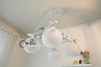 Ems free無料素朴なウールレストランペンダントライト寝室のランプ照明短いランプzzp