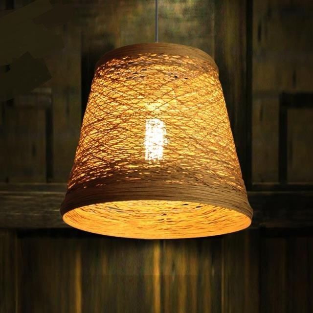 Bamboo  rattan bar Chinese retro Pendant Lights balcony restaurant Pastoral cafe clothing store decoration lighting Bedroom ZA a1 bedroom pendant lights lighting balcony restaurant rattan bar chinese retro pastoral bamboo rattan lamp