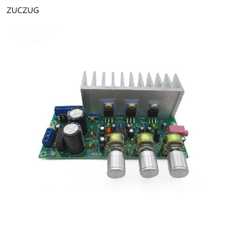 ZUCZUG NEW Power amplifier board TDA2050+TDA2030 three 2.1 channel 60W solid state relay ssr 120da clear cover for temperature contoller